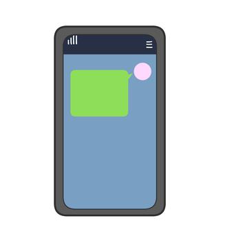發送消息的智能手機屏幕
