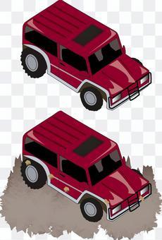 4WD 車 馬力 オフロード 赤