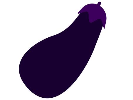 帶凹痕的紫色茄子