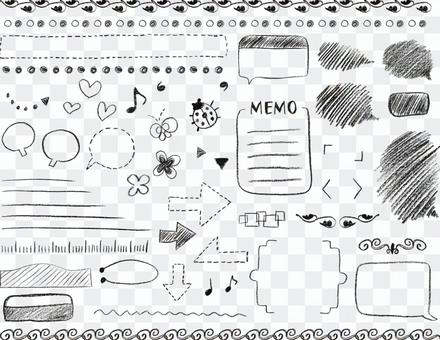 Gurley handwritten pencil decorative framework set collection