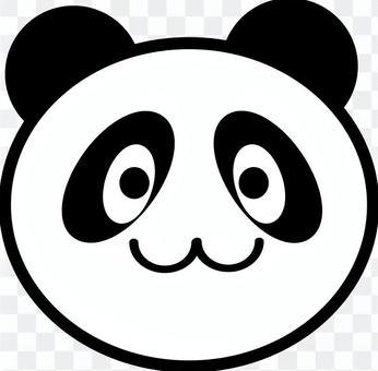 パンダ(顔のみ)