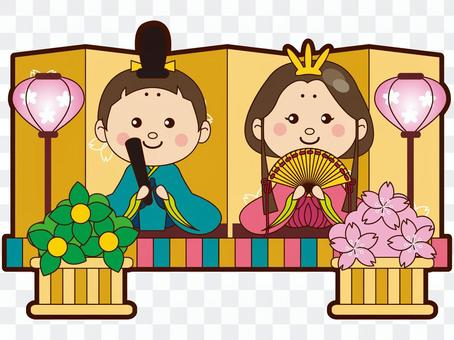 Hina dolls and inner clothes