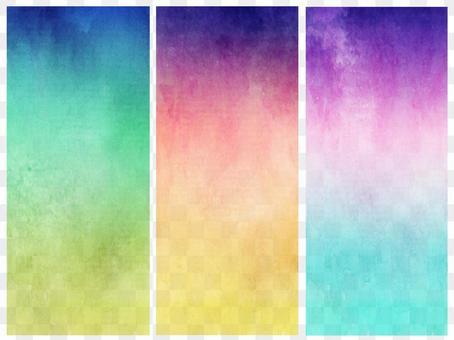 3 color gradation banner