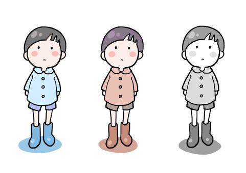 Boy _ standing