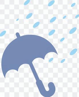 傘(暴風雪)