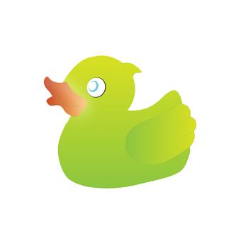 鴨子玩具(綠色)