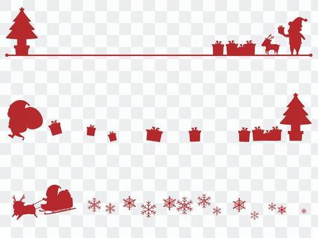 聖誕剪影線