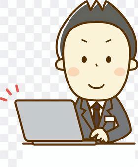 一個在前台管理個人電腦的人