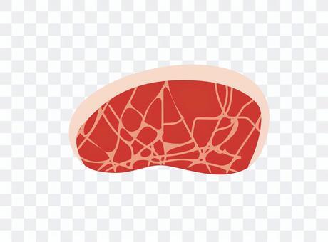 Simple meat illustration