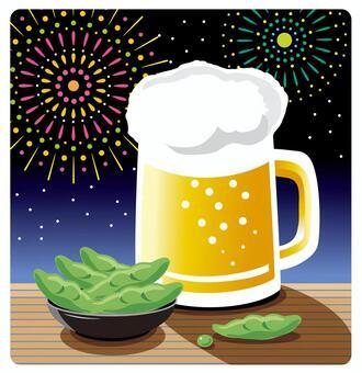 啤酒和毛豆·煙花