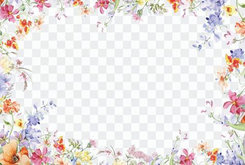 Flower frame 294-postcard size fun garden