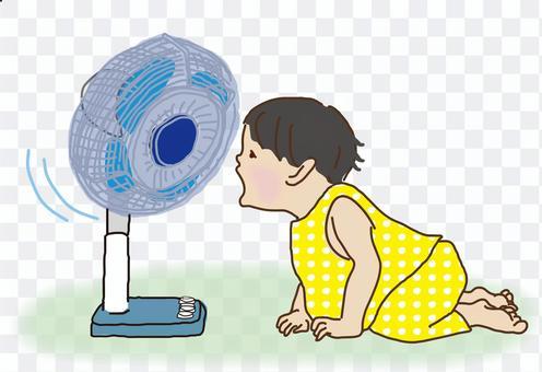 昭和兒童夏日場景