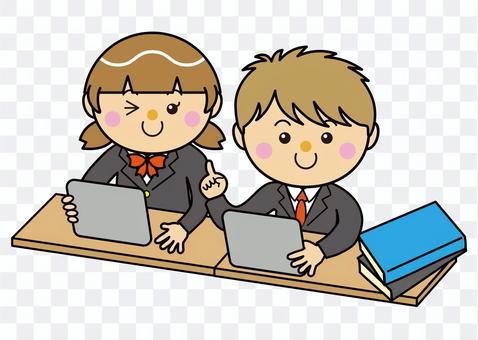學生12_12(男女平板電腦學習)