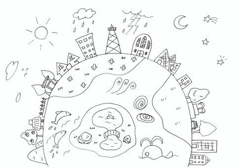 56 Pens Cityscape Earth