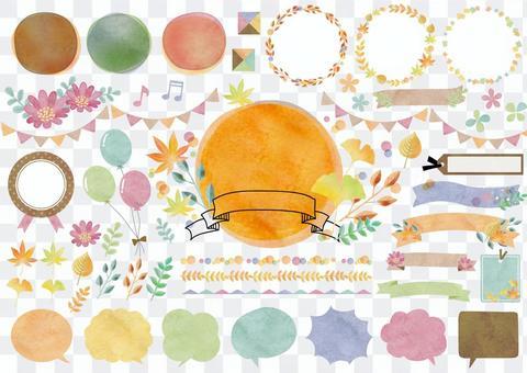 季節性材料090秋季框架套