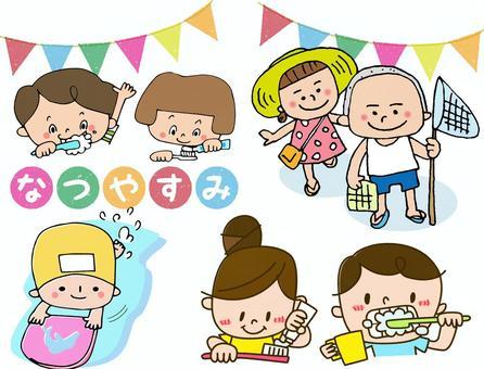 Children of summer vacation