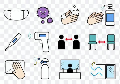 シンプルな感染対策セット EPS A4