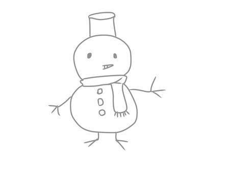 Handwritten style snowman SnowMan