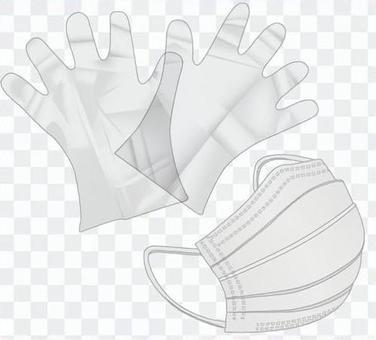 ポリエチレン手袋とマスク_01