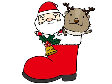 Santa & reindeer boots