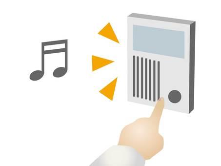 Illustration of pressing the intercom