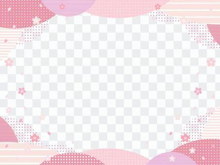 櫻花x幾何圖案框架
