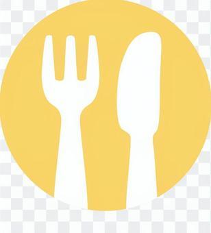 餐具picto(橙色)