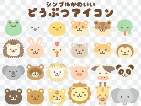 Animal face icon_color_no main line
