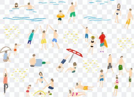 海灘人人物資料集