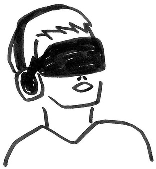 VR man Open male mouth