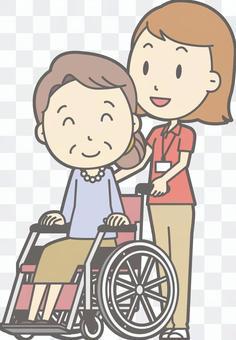 女式Polo輪椅推式全身