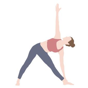 瑜伽三角式