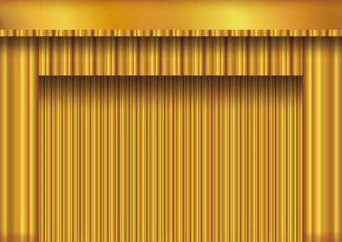 背景框架窗簾帷幕金色垂懸天鵝絨