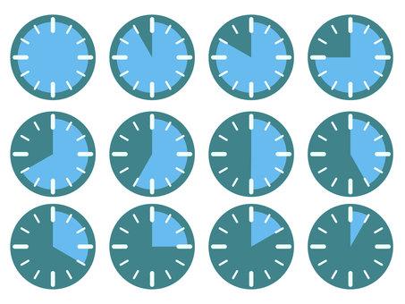 藍色計時器插圖集