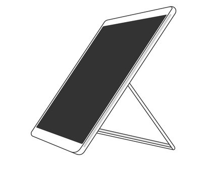 Tablet black and white