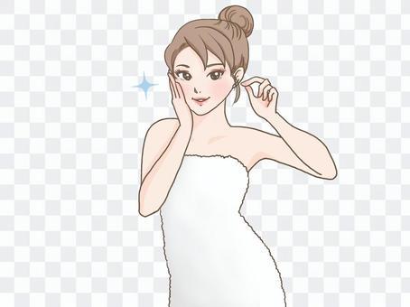 Female towel roll