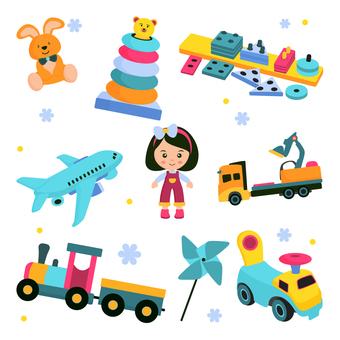 五顏六色的玩具