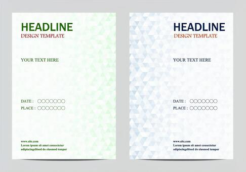 Set of poster templates
