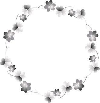 Flower decoration ruler (monochrome)