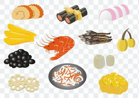 Contents of Osechi cuisine