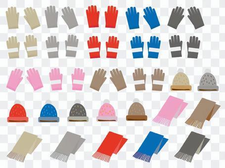 冬天·手套帽子圍巾的例證
