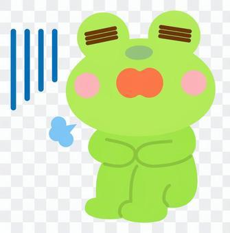 落ち込む ため息 カエル 蛙