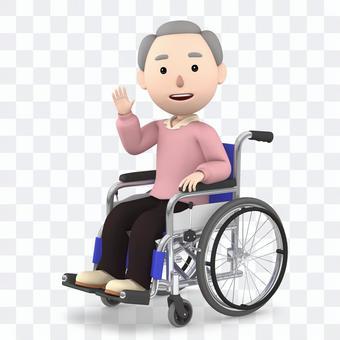 Wheelchair old man 07