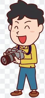 男攝影師的插圖