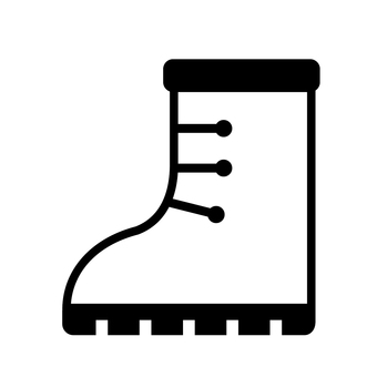 Outdoor boots icon