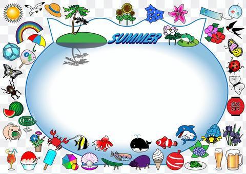 魚缸框架包圍夏天圖標