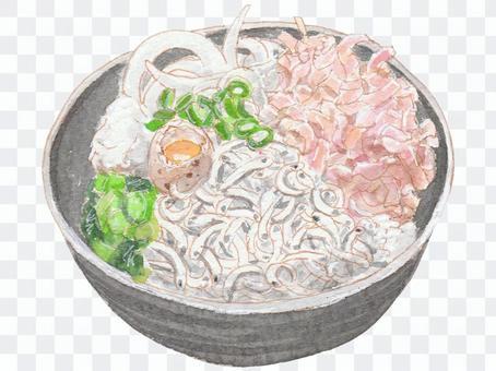 Kamaage shirasu bowl