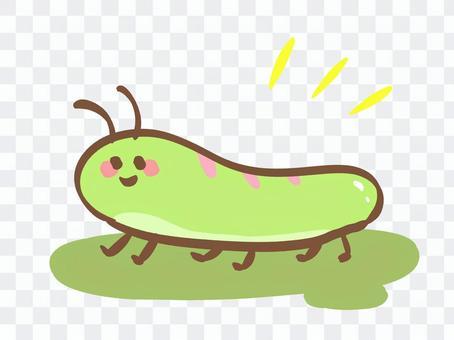 綠色毛毛蟲