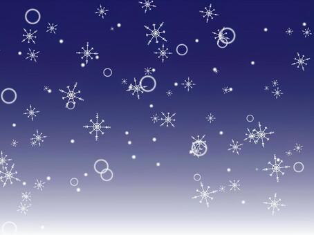 冬天背景(雪晶)