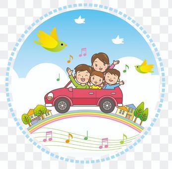开车影像与家人通话